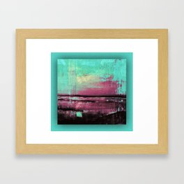 Green Color Patches Framed Art Print