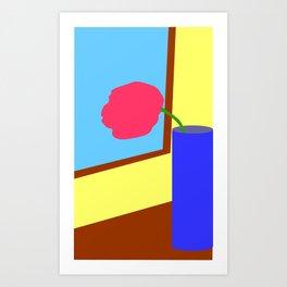 Tulip at the window Art Print