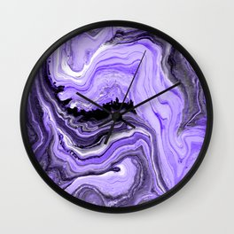 Painted Violet Wall Clock