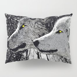 WOLF OF THE NIGHT FOREST Pillow Sham