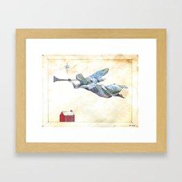 Angel and trumpet Framed Art Print