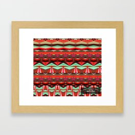 Abstract waves Framed Art Print