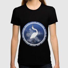 Great Egret Wreath T-shirt