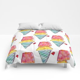 Love You More Than Ice Cream Pattern Food Illustration Love Painting Comforters