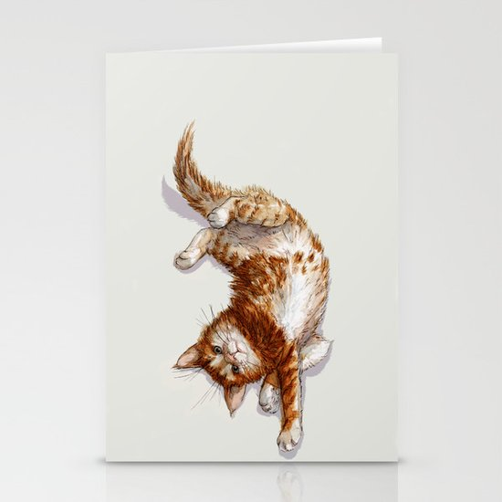 Ginger Kitten A062 Stationery Cards