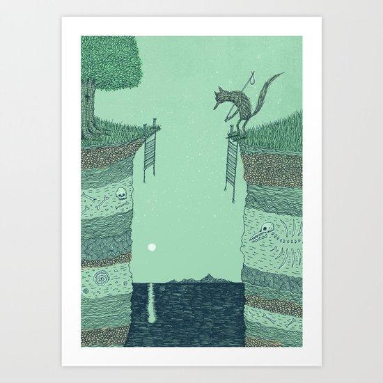 'Broken Bridge' (Colour) Art Print