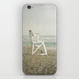 Lifeguard Chair at Dawn iPhone Skin