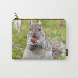 Gray squirrel eating a hazelnut Carry-All Pouch