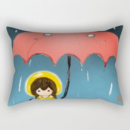 Umbrella & Girl Rectangular Pillow