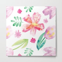 Watercolor spring Metal Print