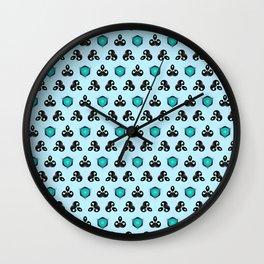 Curious Cyan Wall Clock