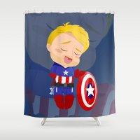 captain silva Shower Curtains featuring Captain  by Clarisse2dart