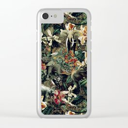 Elephants Camouflage Clear iPhone Case