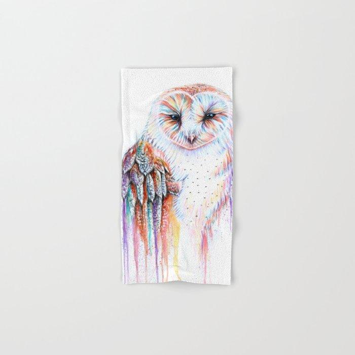 Colorful Owl Hand & Bath Towel