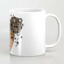 African American Flower Goddess Coffee Mug