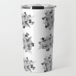 Abstract crystal pattern Travel Mug