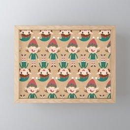 Santa's Elven Slaves I (Patterns Please) Framed Mini Art Print