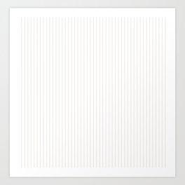 Bridal Blush Stripes Art Print