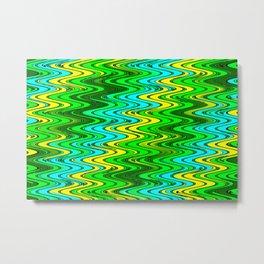 WAVY #2 (Greens, Yellows & Light Blues) Metal Print
