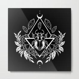 Scarab Queen // B&W 02 Metal Print