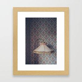 Corner lamp Framed Art Print