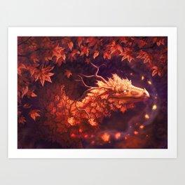 Autumn Dragon Art Print