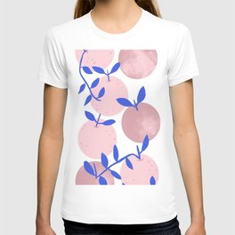Modern clementines in blush T-shirt