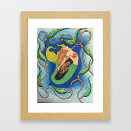 Seductive Mermaid Framed Art Print
