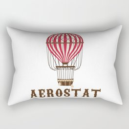 Retro Balloonist Hot Air Balloon Pilot Ballooning Vintage Gift Rectangular Pillow