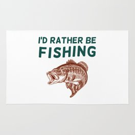 I'd Rather be Fishing Rug