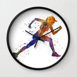 Woman runner jogger running Wall Clock