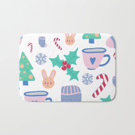 Christmas pattern Bath Mat