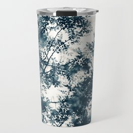 Blue Leaves #1 Travel Mug