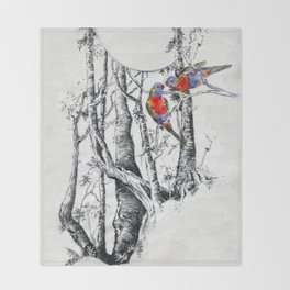 Rainbow Forest Throw Blanket