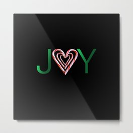 Candy Cane Joy Metal Print