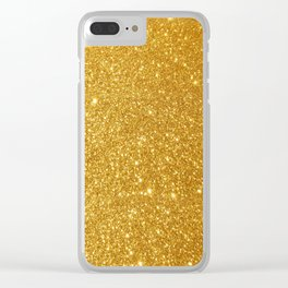golden twinkle Clear iPhone Case