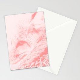 red fox digital acryl painting acrpw Stationery Cards
