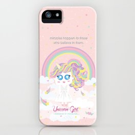 Unicorn Girl iPhone Case