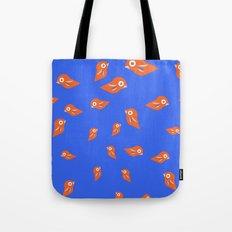 Pretty Orange Birds Tote Bag