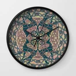 Art Nouveau Greyhound Celtic Knotwork Wall Clock