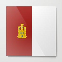flag of castilla la mancha Metal Print