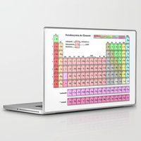 periodic table Laptop & iPad Skins featuring Periodic Table Of  The Elements by GrafXthings