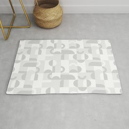 Gray Domio Mosaic (Landscape) Rug