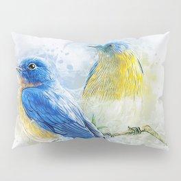 Kissing Birds Pillow Sham