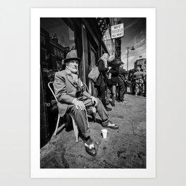 Old Man of Brick Lane London Art Print