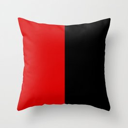 Psychedelic black and red stripes VII. Throw Pillow