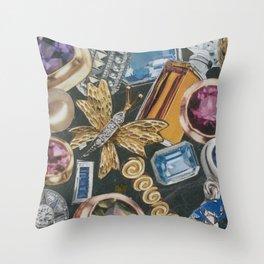 Suzette's Lady in Paris Throw Pillow