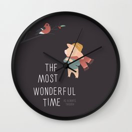 The most wonderful time Wall Clock
