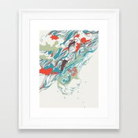 huebucket Framed Art Prints featuring Colours In The Sky by Huebucket
