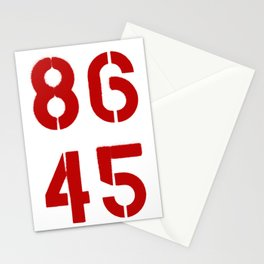 86 45 / Remove Trump Stationery Cards